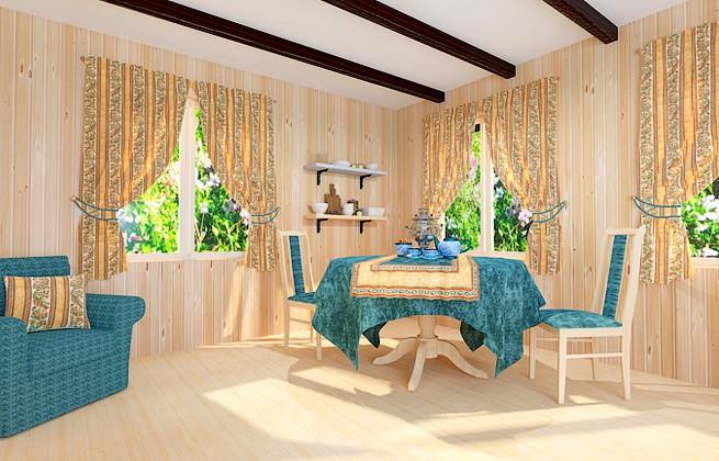 Яркий и солнечный вариант текстиля для дачи или загородного дома. Комплект в синей цветовой гамме создаст ощущение прохлады в самый жаркий летний день.
