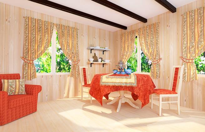 Яркий и солнечный вариант текстиля для дачи или загородного дома. Комплект в золотистой цветовой гамме создает комфортную обстановку.
